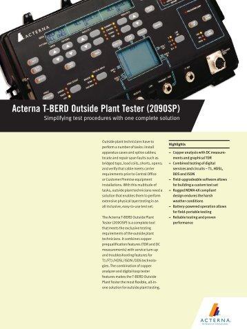 Acterna T-BERD Outside Plant Tester (209OSP) - Mr Test Equipment