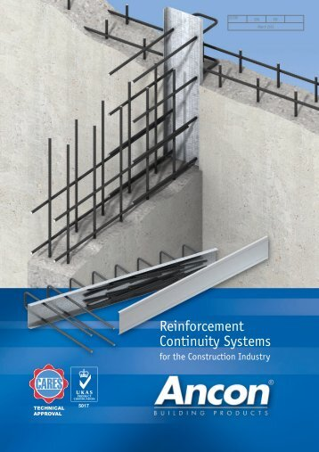 Eazistrip Reinforcement Continuity Systems - Ancon Building Products