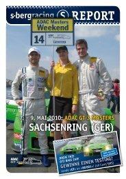REPORT 7. – 9. Mai 2010: aDaC GT 3 MaSTERS ... - S-Bergracing