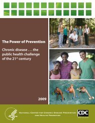 The Power of Prevention - Centers for Disease Control and Prevention
