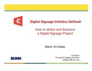 Digital Signage Initiative Defined: How to define and ... - Lyle Bunn