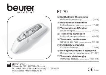753_642_1110_FT70_GA1 1 - Beurer