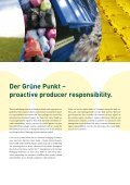 The environment deserves our protection. Your ... - Der Grüne Punkt - Page 2