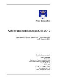 Kreis Ostholstein Abfallwirtschaftskonzept 2008-2012