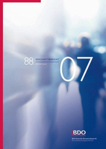Geschäftsbericht 2007 - BDO