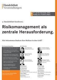 Risikomanagement als zentrale Herausforderung. !