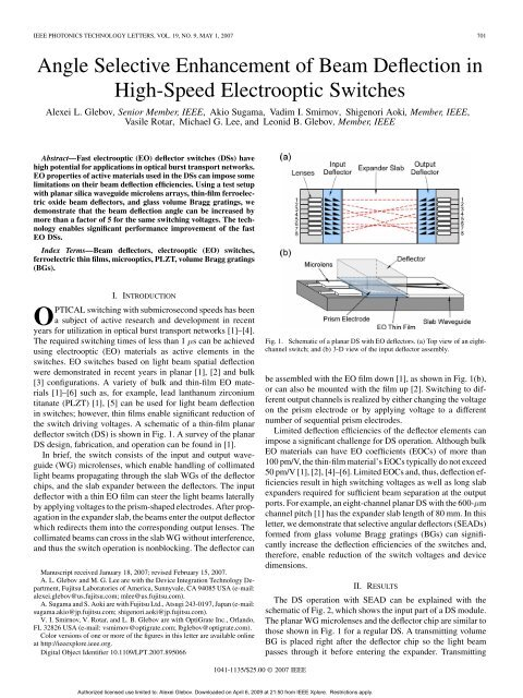 ieee photonics technology letters, vol  19, no  9 - Optigrate