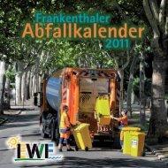 Abfallkalender 2011 - Stadt Frankenthal