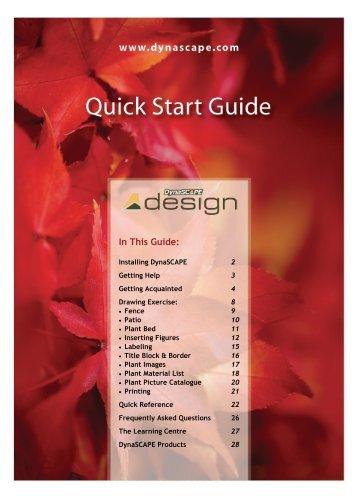 Design Quick Start Guide - Dynascape