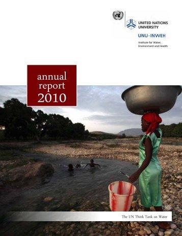 annualreport - Unu-inweh - United Nations University