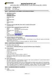 Bezpečnostní list - PARAMO HM 22