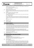 BEZPEČNOSTNÍ LIST Kyselina chlorovodíková 31 % - Proxim s.r.o. - Page 4