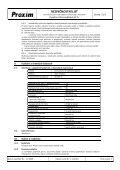 BEZPEČNOSTNÍ LIST Kyselina chlorovodíková 31 % - Proxim s.r.o. - Page 5