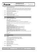 BEZPEČNOSTNÍ LIST Kyselina chlorovodíková 31 % - Proxim s.r.o. - Page 6