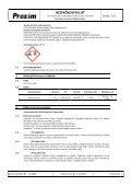 BEZPEČNOSTNÍ LIST Kyselina sírová mlékárenská - Proxim s.r.o. - Page 2