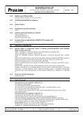 BEZPEČNOSTNÍ LIST Kyselina sírová mlékárenská - Proxim s.r.o. - Page 7
