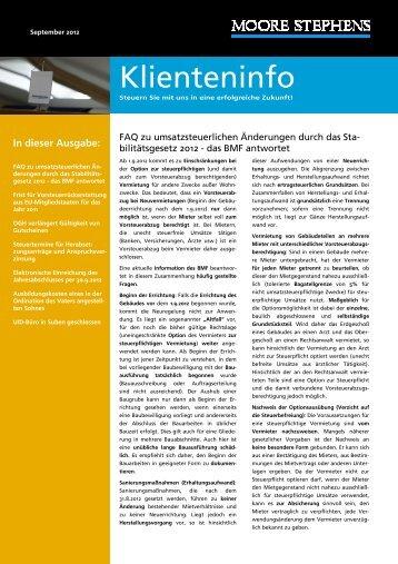 FAQ zu umsatzsteuerlichen Änderungen durch das Stabilitätsgesetz ...