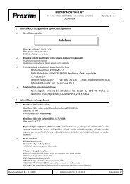 BEZPEČNOSTNÍ LIST Kalafuna - Proxim s.r.o.