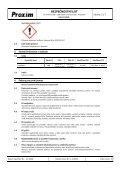 BEZPEČNOSTNÍ LIST Kalafuna - Proxim s.r.o. - Page 2