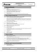BEZPEČNOSTNÍ LIST Kalafuna - Proxim s.r.o. - Page 3
