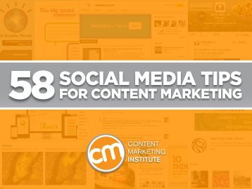 58 Social Media Tips for Content Marketing