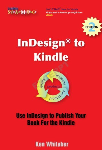 InDesign to Kindle, 2nd Edition - Leading Software Maniacs