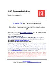 Rewriting the romance - LSE Research Online