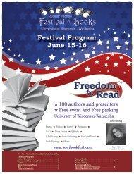 2012 Southeast Wisconsin Festival of Books Program