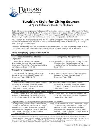 turabian style footnote generator Chicago/turabian basics: footnotes why we use footnotes the style of chicago/turabian we use requires footnotes rather than in-text or parenthetical citations.