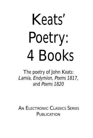 The poetry of John Keats - Pennsylvania State University