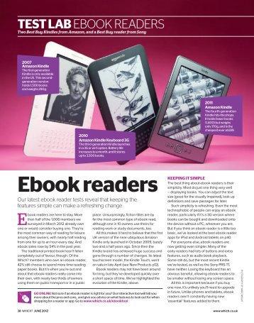 Test lab: Ebook readers