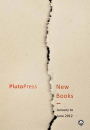 New Books Catalogue Spring/Summer 2012 - Pluto Press