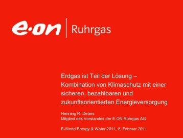 Erdgas im Energiesystem der Zukunft - E.ON Ruhrgas AG