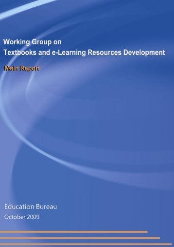 Working Group on Textbooks and E-Learning Resources