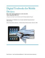 Digital Textbooks for Mobile Devices - Computer Science - Duke ...