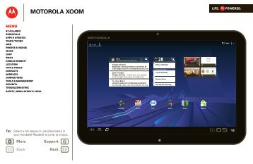 MOTOROLA XOOM User Guide - Motorola Support