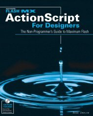Flash™ MX ActionScript™ For Designers