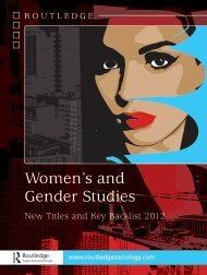 Women's and Gender Studies 2012 (US) - Routledge