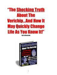 The Shocking Truth About The Verichip…And How - Free Eternity Test