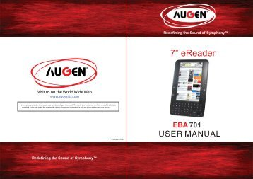 Augen TheBook eReader Manual - Cell Phones Etc.