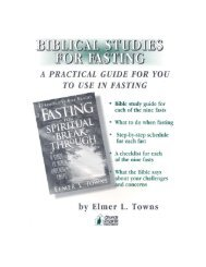 Bible Study for Fasting - Elmer Towns