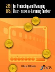 Producing and Managing Flash-based e-Learning - The eLearning ...