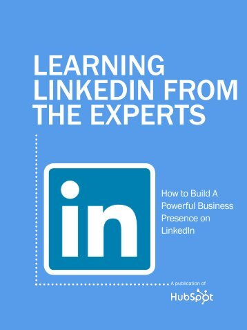 Learning LinkedIn from the Experts - HubSpot