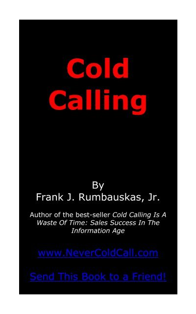 Cold Calling - Free Nonfiction Books