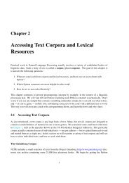 Accessing Text Corpora and Lexical Resources - MIT