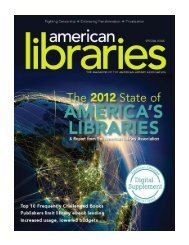 2012 State of America's Libraries - American Library Association