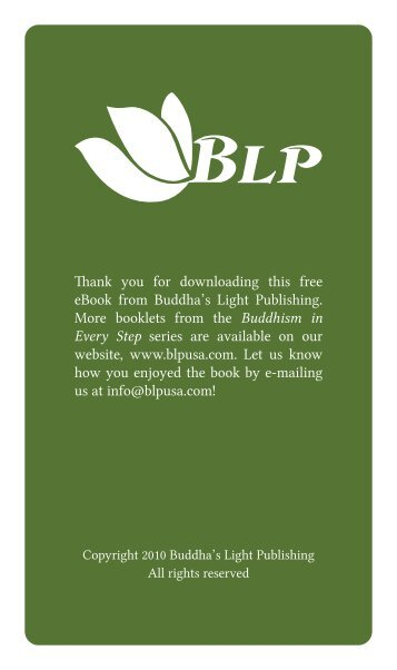 Thank you for downloading this free eBook from Buddha's Light ...
