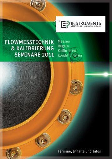 flowmesstechnik & kalibrierung seminare 2011 - Ehrler Prüftechnik ...
