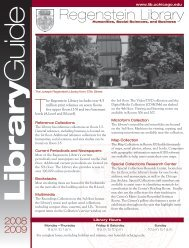 Regenstein Library Guide - The University of Chicago Library
