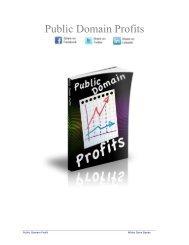 Public Domain Profit - White Dove Books